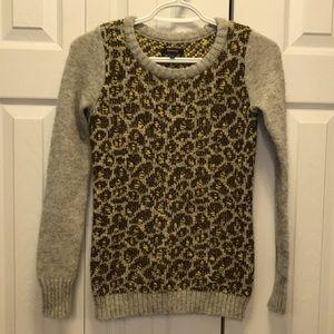 RW & CO Yellow & Grey Knit Multicoloured Sweater